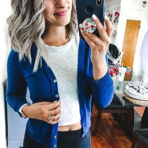 New York & Company Sweaters - 7th Ave New York & Company Blue Cardigan XS